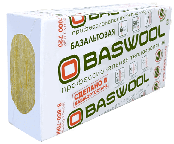 Baswool Вент Фасад 80 1200*600*50 (0,216м3; 4,32м2)